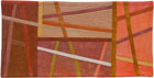 Abstract Contemporary Textile Painting / Art Quilt - Postcards from Italy #13 ©2014 Lisa Call