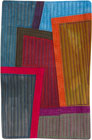 Abstract Contemporary Textile Painting / Art Quilt - Postcards from New York #6 ©2012 Lisa Call