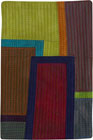 Abstract Contemporary Textile Painting / Art Quilt - Postcards from New York #8 ©2012 Lisa Call