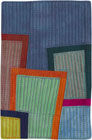 Abstract Contemporary Textile Painting / Art Quilt - Postcards from New York #10 ©2012 Lisa Call