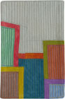 Abstract Contemporary Textile Painting / Art Quilt - Postcards from New York #11 ©2012 Lisa Call