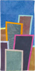 Abstract Contemporary Textile Painting / Art Quilt - Postcards from New York #16 ©2012 Lisa Call