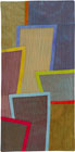 Abstract Contemporary Textile Painting / Art Quilt - Postcards from New York #17 ©2012 Lisa Call