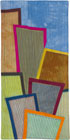 Abstract Contemporary Textile Painting / Art Quilt - Postcards from New York #19 ©2012 Lisa Call