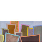 Abstract Contemporary Textile Painting / Art Quilt - Postcards from New York #25 ©2012 Lisa Call