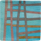 Abstract Contemporary Textile Painting / Art Quilt - Postcards from Thailand #1 Lisa Call
