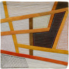 Abstract Contemporary Textile Painting / Art Quilt - Postcards from Thailand #10 Lisa Call