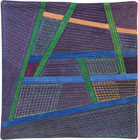 Abstract Contemporary Textile Painting / Art Quilt - Postcards from Thailand #12 Lisa Call
