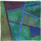 Abstract Contemporary Textile Painting / Art Quilt - Postcards from Thailand #13 Lisa Call