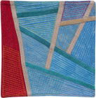 Abstract Contemporary Textile Painting / Art Quilt - Postcards from Thailand #17 Lisa Call