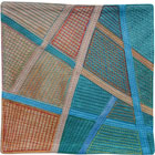 Abstract Contemporary Textile Painting / Art Quilt - Postcards from Thailand #18 Lisa Call