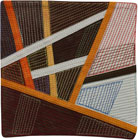 Abstract Contemporary Textile Painting / Art Quilt - Postcards from Thailand #24 Lisa Call