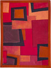 Abstract Contemporary Textile Painting / Art Quilt - Squares #1 ©2003 Lisa Call