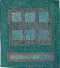 Abstract Contemporary Textile Painting / Art Quilt - Squares #3 ©2005 Lisa Call