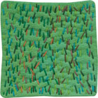 Abstract Contemporary Textile Painting / Art Quilt - Stillness: Jungle #12 ©2010 Lisa Call