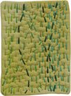 Abstract Contemporary Textile Painting / Art Quilt - Stillness: Jungle #3 ©2010 Lisa Call