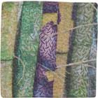 Abstract Contemporary Textile Painting / Art Quilt - Stillness: Jungle #7 ©2010 Lisa Call
