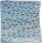 Abstract Contemporary Textile Painting / Art Quilt - Stillness: Sea #5 ©2010 Lisa Call