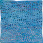 Abstract Contemporary Textile Painting / Art Quilt - Stillness: Sea #7 ©2010 Lisa Call