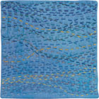 Abstract Contemporary Textile Painting / Art Quilt - Stillness: Sea #8 ©2010 Lisa Call