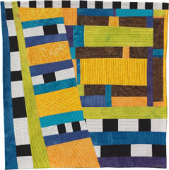 Abstract Contemporary Textile Painting / Art Quilt - Structures #2 ©2003 Lisa Call