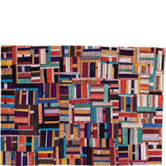 Abstract Contemporary Textile Painting / Art Quilt - Structures #6 ©2001 Lisa Call
