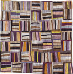 Abstract Contemporary Textile Painting / Art Quilt - Structures #9 ©2002 Lisa Call