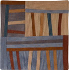 Abstract Contemporary Textile Painting / Art Quilt - Structures #104 ©2008 Lisa Call