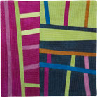 Abstract Contemporary Textile Painting / Art Quilt - Structures #106 ©2008 Lisa Call
