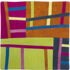 Abstract Contemporary Textile Painting / Art Quilt - Structures #107 ©2008 Lisa Call
