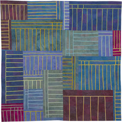 Abstract Contemporary Textile Painting / Art Quilt - Structures #108 ©2010 Lisa Call