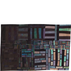Abstract Contemporary Textile Painting / Art Quilt - Structures #10 ©2004 Lisa Call