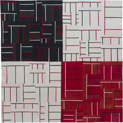 Abstract Contemporary Textile Painting / Art Quilt - Structures #110 ©2012 Lisa Call