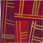 Abstract Contemporary Textile Painting / Art Quilt - Structures #120 ©2011 Lisa Call