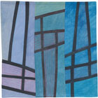Abstract Contemporary Textile Painting / Art Quilt - Structures #121 ©2011 Lisa Call