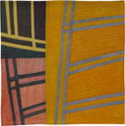 Abstract Contemporary Textile Painting / Art Quilt - Structures #122 ©2011 Lisa Call