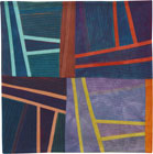 Abstract Contemporary Textile Painting / Art Quilt - Structures #123 ©2011 Lisa Call