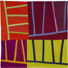 Abstract Contemporary Textile Painting / Art Quilt - Structures #124 ©2011 Lisa Call
