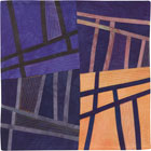 Abstract Contemporary Textile Painting / Art Quilt - Structures #125 ©2011 Lisa Call