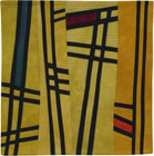 Abstract Contemporary Textile Painting / Art Quilt - Structures #126 ©2011 Lisa Call