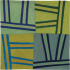 Abstract Contemporary Textile Painting / Art Quilt - Structures #128 ©2011 Lisa Call
