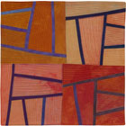 Abstract Contemporary Textile Painting / Art Quilt - Structures #129 ©2011 Lisa Call