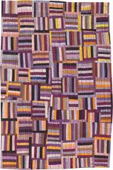 Abstract Contemporary Textile Painting / Art Quilt - Structures #12 ©2002 Lisa Call