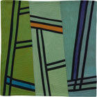 Abstract Contemporary Textile Painting / Art Quilt - Structures #130 ©2011 Lisa Call