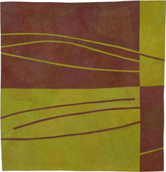 Abstract Contemporary Textile Painting / Art Quilt - Structures #132 ©2011 Lisa Call