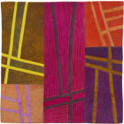 Abstract Contemporary Textile Painting / Art Quilt - Structures #135 ©2012 Lisa Call