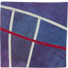 Abstract Contemporary Textile Painting / Art Quilt - Structures #139 ©2012 Lisa Call