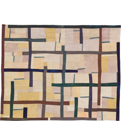 Abstract Contemporary Textile Painting / Art Quilt - Structures #13 ©2005 Lisa Call
