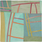 Abstract Contemporary Textile Painting / Art Quilt - Structures #141 ©2012 Lisa Call