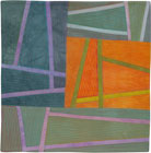 Abstract Contemporary Textile Painting / Art Quilt - Structures #144 ©2012 Lisa Call